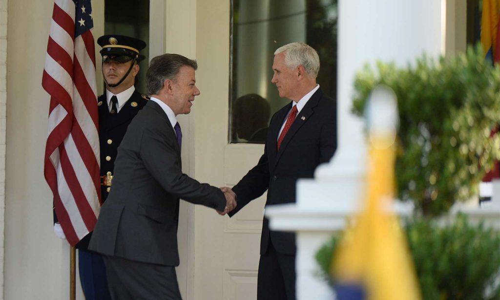 Mike Pence, Vicepresidente de Estados Unidos, recibió este viernes al Presidente de Colombia en su primer encuentro personal desde que comenzó la nueva administración de ese país.